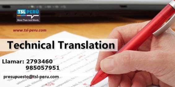 Traducción técnica profesional e interpretación 985057951 lima-callao
