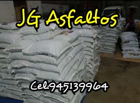 Venta de asfalto en frio -jg asfaltos - sacos de 25 y 50 k