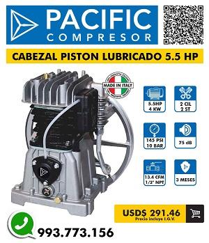 Cabezal pc piston 5.5 hp - 10bar