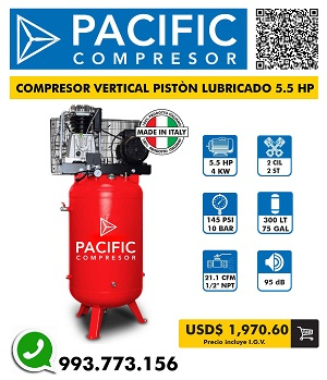Pistón lubricado 5.5 hp - 10 bar