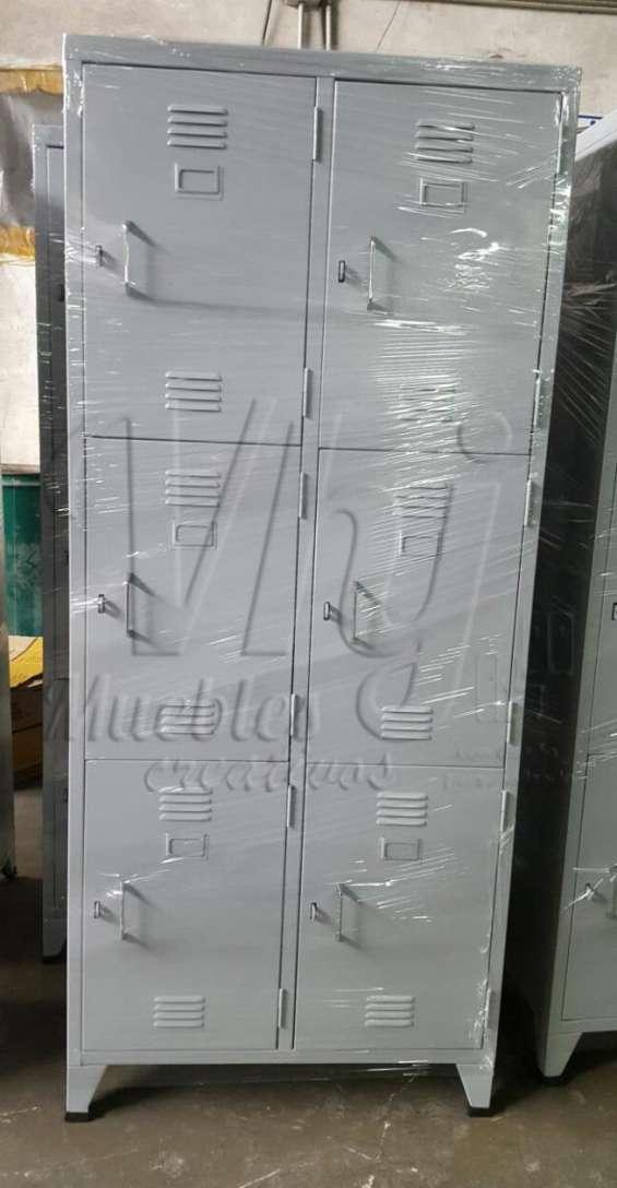 Lockers porta candado  de 6 casilleros