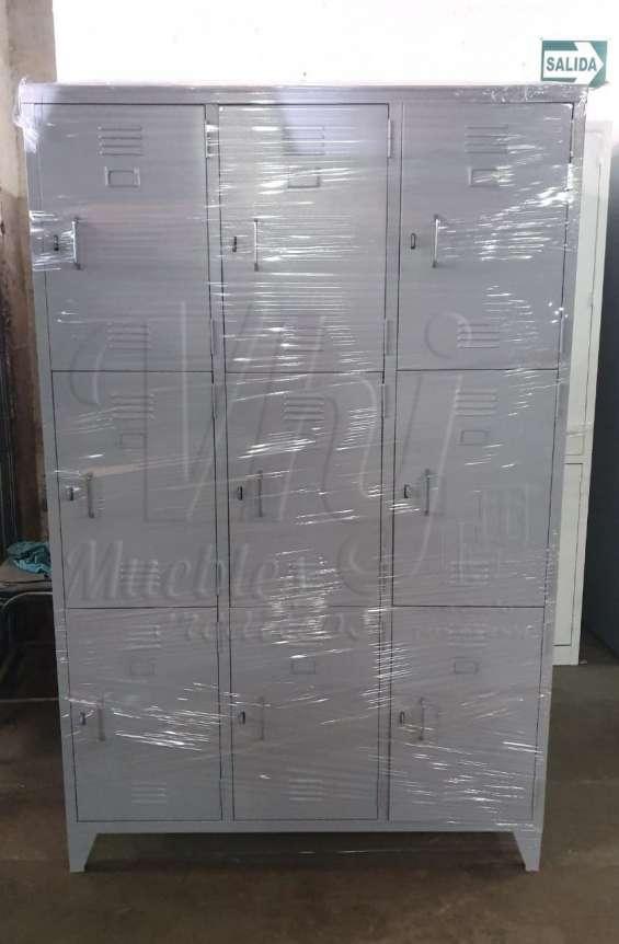 Lockers porta candado de 9 casilleros