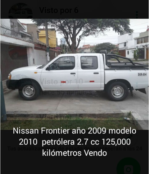 Camioneta nissan frontier 4x2 2009