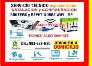 Tecnico de internet pc laptops cableados de red y…