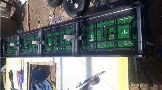 Producción,mantenimiento e instalación de pantallas led