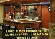 Especialista en muebles Bares clasicos colonial fabricación y diseño Lima Perú