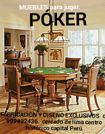 Muebles para póker sillas y mesas fabricación y diseño exclusivos lima perú