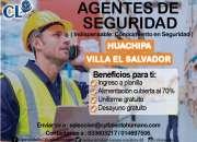 Agente de seguridad - sede huachipa telf: 933603217 / 949778125