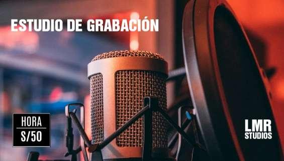 """Alquiler """"estudio de grabacion"""" lima 2020"""