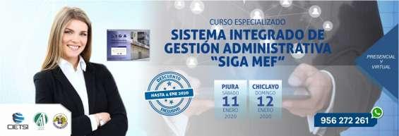 Curso especializado sistema integrado de gestión administrativa siga mef 2020 (nuevo)