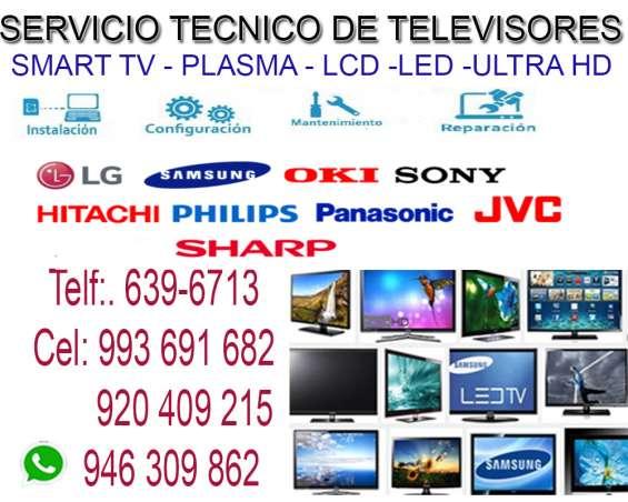 Servicio técnico de televisores a domicilio 920409215
