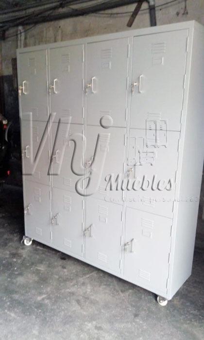 Lockers porta candado de 12 casilleros movil