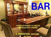 BARES EXCLUSIVOS Y MUEBLES BARES FABRICACIÓN EXCLUSIVAS A PEDIDO ESPECIAL