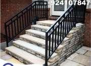 aceros inoxidable para escaleras, barandas, pasmanos
