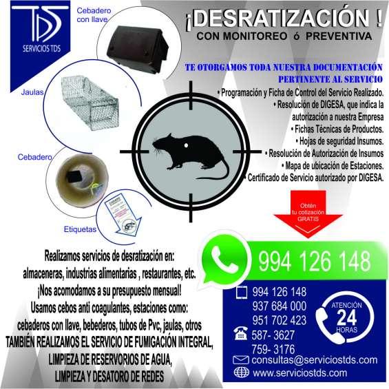 Fumigación y desratización anual cel:994126148 todo callao para almaceneras