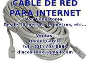 Cable de red para Intenet UTP Cat5e para tu PC Router PS4 SmartTV Repetidor etc Los Olivos