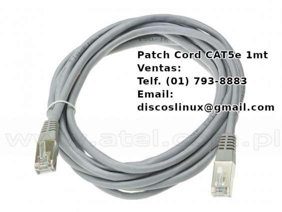 Cable patch cord cat5e t568b 4 pares nuevo, en los olivos