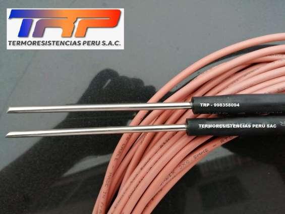 Fabricamos sensores de temperatura tipo pt100-rtd, termistores ntc y termopares