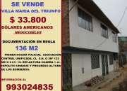 se vende casa de dos pisos Villa Maria del Triunfo