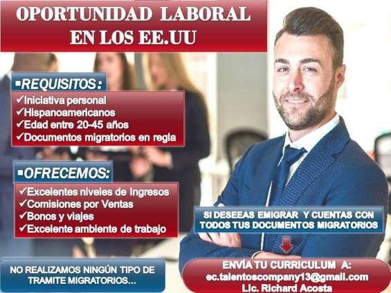 interesados enviar su currículum al correo: ec.talentoscompany13@gmail.com lic. florianny vera auxiliar gestión humana.