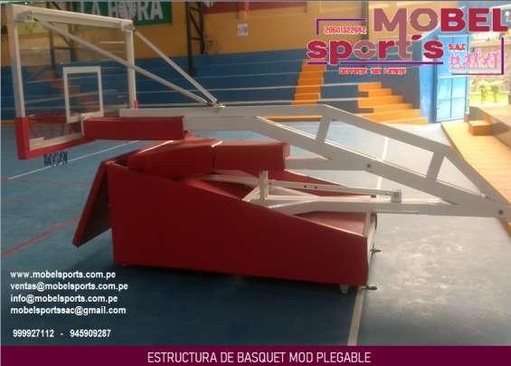 Castillo de basquet movible