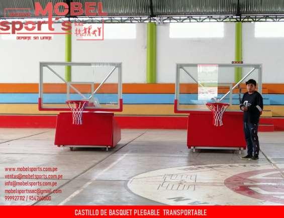 Tablero de basquet plegable