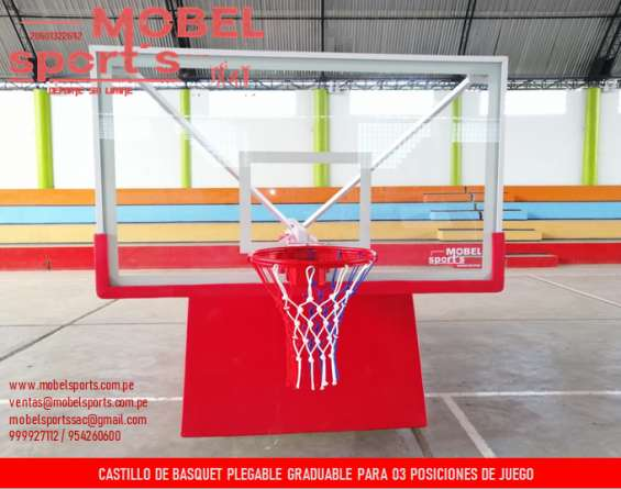 Tablero de basquet movible