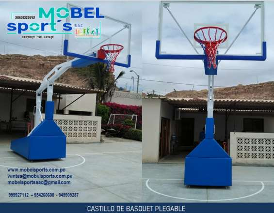 Tablero de basquet transportable