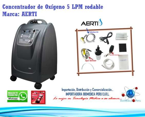 Concentrador de oxigeno 5lpm silencioso con sensor spo2