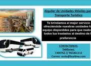 Alquiler de unidades móviles para transporte turístico