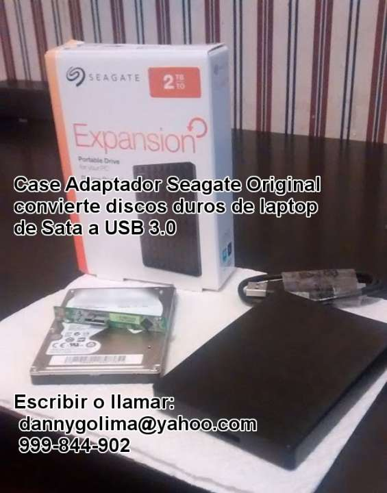 Case y adaptador seagate nuevo y original de sata a usb 3.0