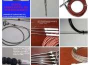 Fabricamos Sensores de T° Pt100, Pt1000-RTD, NTC Full Gauge.