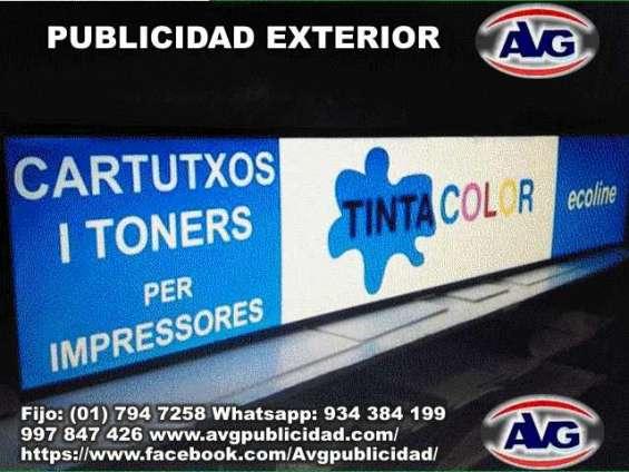 Avisos luminosos lima perú avg publicidad exterior, logos, letras corpóreas iluminadas