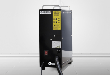Caldera acero inoxidable / carcasa aluminio. tamaño táctico / vapor seco, vapor húmedo (agua caliente). control vapor seco/húmedo. consumo - seco: 40g/min, húmedo: 120g/min. maquina industrial de bajo voltaje y bajo peso (5.5kg) para la movilización. comp