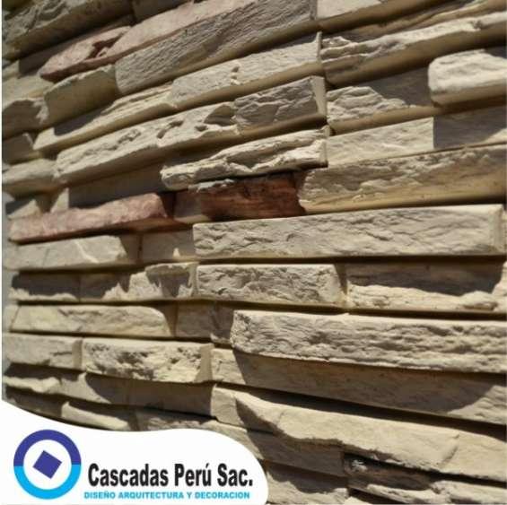 Piedra laja,fachaleta piedra,velo de agua, muro llorón,piletas,macetas,cascada artificial,