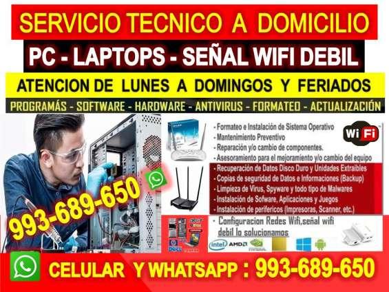 Tecnico de pcs repetidores wifi laptops cableados