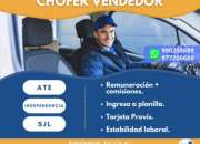 CONDUCTOR CON BREVETE A1, ATE, INDEPENDENCIA, SJL